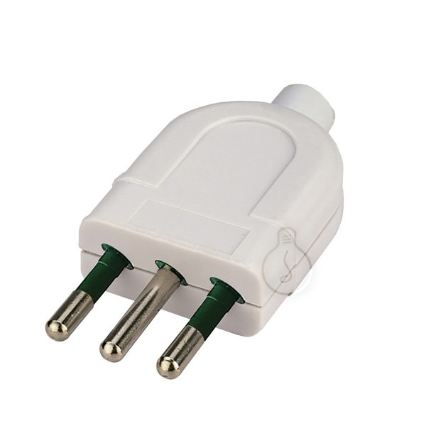 Electric plug 10A 4mm in polycarbonate