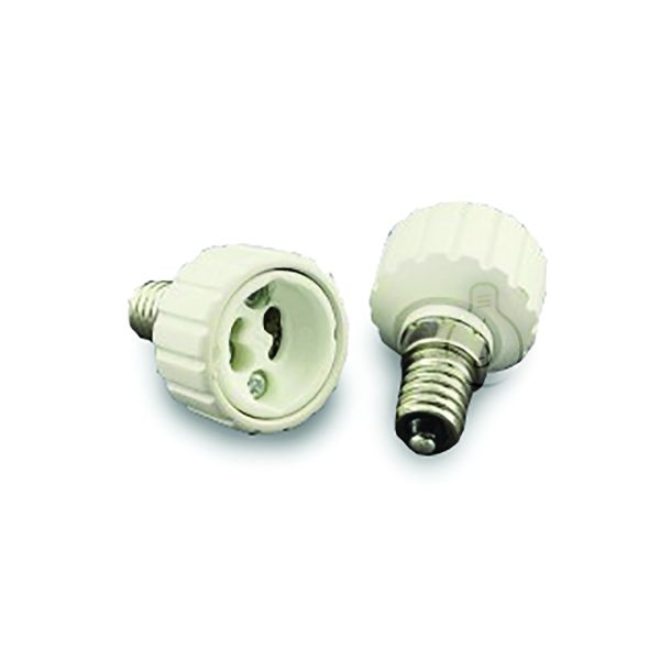 Adapter for light bulbs from GU10 to E14
