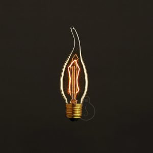 E27 light bulb vintage dimmable incandescent gust of wind