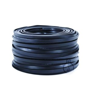 Flat black cable for outdoor use for chain construction