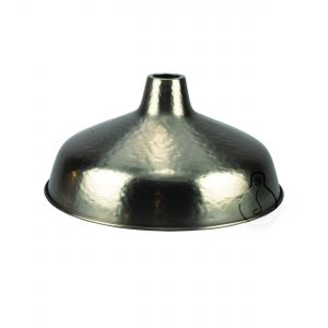 Hand hammered metal shade in bronze color