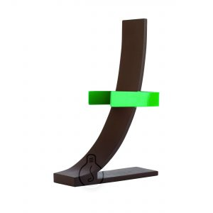 Metal seven applique in green and corten color, base rectangular with vintage E27 lamp holder